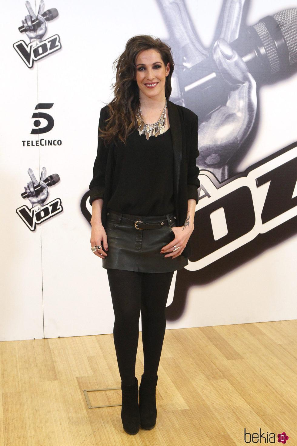 Malú con un total look black en la presentación de la ganadora de 'La Voz'