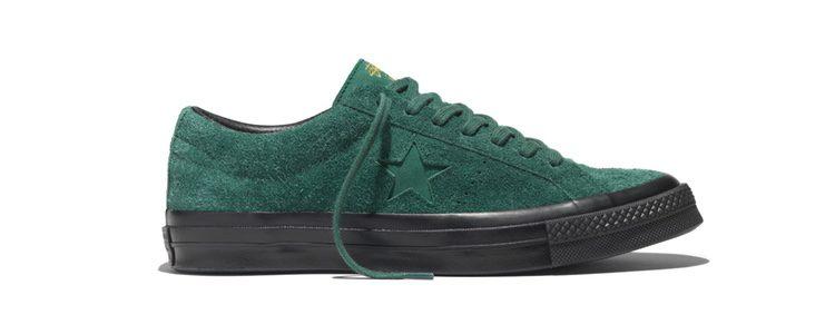 Sneakers 'Hunter green' de Converse y Stüssy