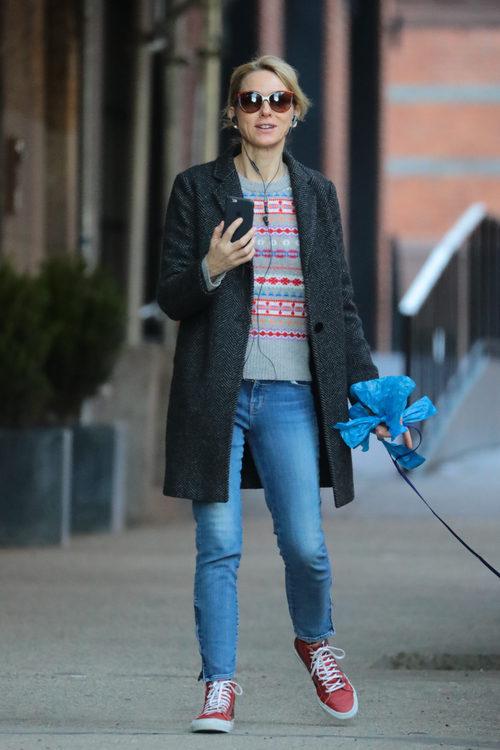 Naomi Watts con un look informal en Nueva York