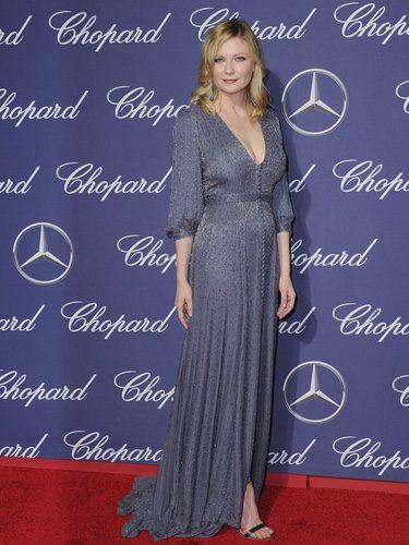 Kirsten Dunst con un vestido brilly en el Festival de Cine de Palm Springs