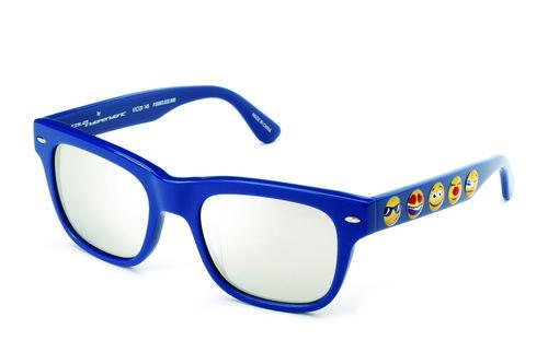 Gafas de sol con montura azul de la colección de Jeremy Scott para Italia Independent