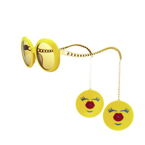 Gafas de sol de montura amarilla de la colección de Jeremy Scott para Italia Independent