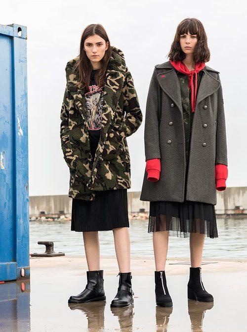 Abrigos de estilo militar de Pull&Bear invierno 2017