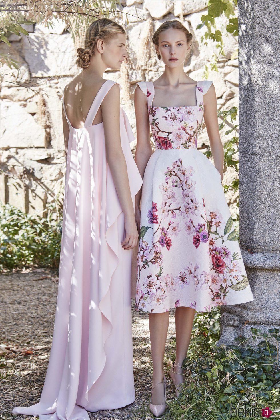Vestidos color rosa cuarzo de dolores promesas primavera verano 2017 colecci n de looks - Colores moda primavera verano 2017 ...