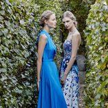 Vestidos largos de color azul de Dolores Promesas primavera/verano 2017