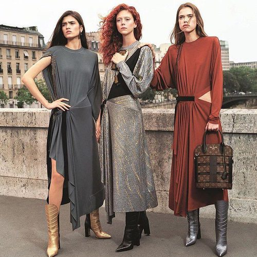 Vestidos de corte asimétrico de Louis Vuitton primavera/verano 2017