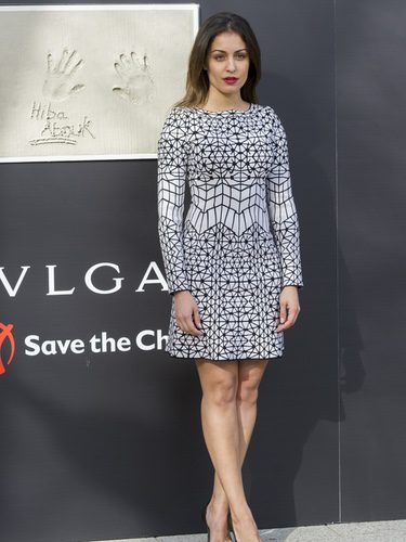 Hiba Abouk con un look sencillo en la inauguración de un centro cívico en Madrid