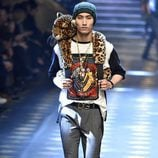 Mochila animal print de Dolce & Gabbana otoño/invierno 2017/2018 en la Milán Fashion Week