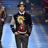 Jersey estampado de Dolce & Gabbana otoño/invierno 2017/2018 en la Milán Fashion Week
