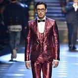 Traje de chaqueta de Dolce & Gabbana otoño/invierno 2017/2018 en la Milán Fashion Week