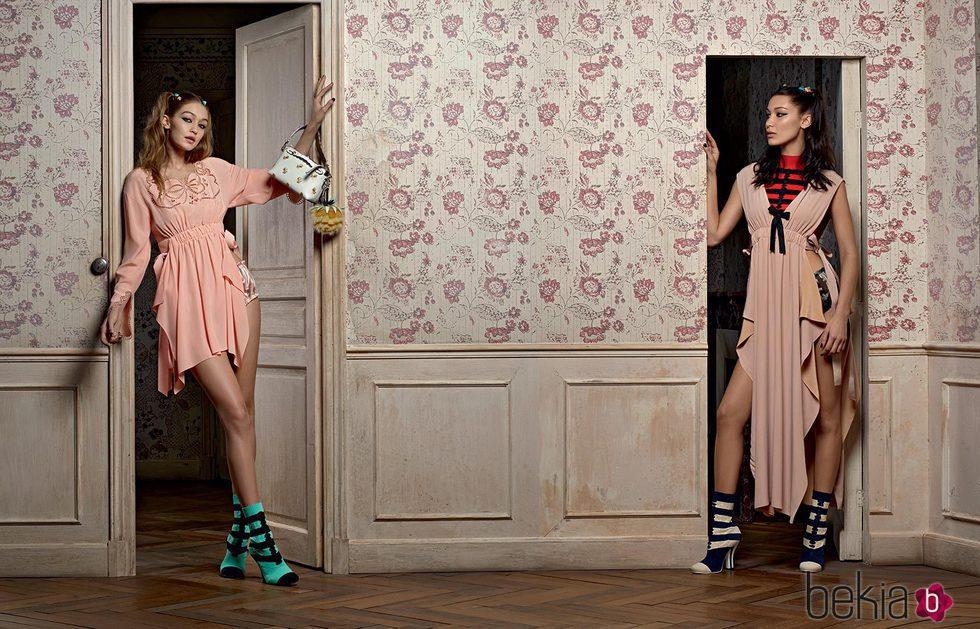 Bella y Gigi Hadid protagonistas de la nueva campaña de Fendi