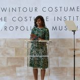 Michelle Obama dando un discurso en 'The Costume Institutes' de Anna Wintour en 2014
