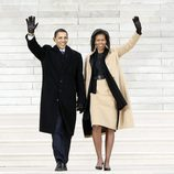 Michelle Obama con un total look con su marido Barack Obama en el 2009