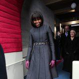 Michelle Obama con un abrigo acampanado en 2009