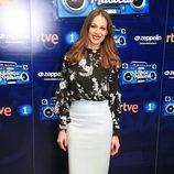 Eva González con un look romántico en la presentación del programa 'El gran reto musical'