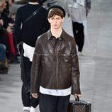 Chaqueta de piel de Louis Vuitton y Supreme otoño/invierno 2017/2018 en la París Fashion Week