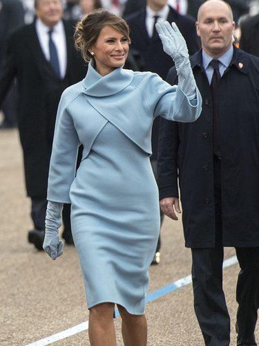 Melania Trump con un look a lo 'Jackie Kennedy' en la toma de posesión de Trump