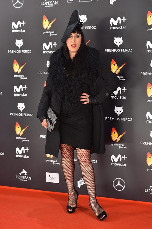 Rossy de Palma con un total black en los Premios Feroz 2017