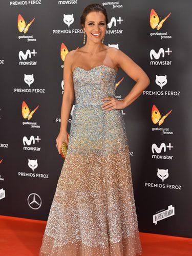 Paula Echevarría con un look brilly en los Premios Feroz 2017
