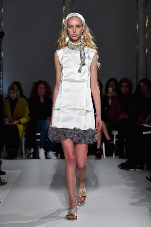 Vestido vintage de Giambattista Valli primavera/verano 2017 en la Semana de la Alta Costura de París