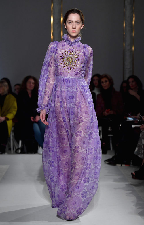 Vestido transparente de Giambattista Valli primavera/verano 2017 en la Semana de la Alta Costura de París