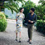 Andrés Velencoso y McKenna Hellam con prendas de la primavera/verano 2017 de Salvatore Ferragamo