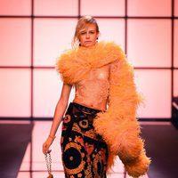 Pantalón estampado de Giorgio Armani Privé primavera/verano 2017 en la Semana de la Alta Costura de París