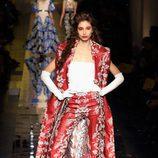 Traje floral de Jean Paul Gaultier primavera/verano 2017 en la Semana de la Alta Costura de París