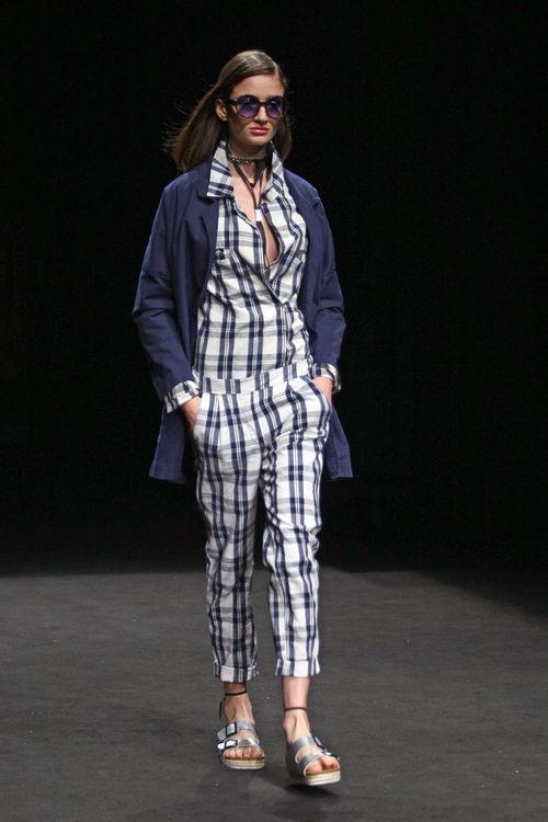 Conjunto estampado de TCN primavera/verano 2017 en la 080 Barcelona Fashion