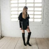 Legging boots de color negro de Stradivarius colección San Valentín 2017
