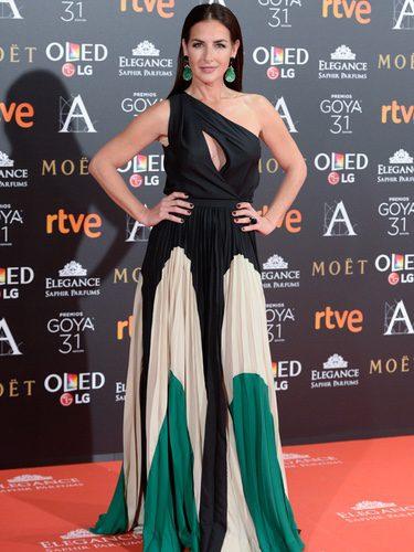 Belén López con un vestido de Antonio García en los Premios Goya 2017