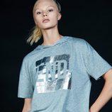 Camiseta gris deportiva de Lefties primavera/verano 2017