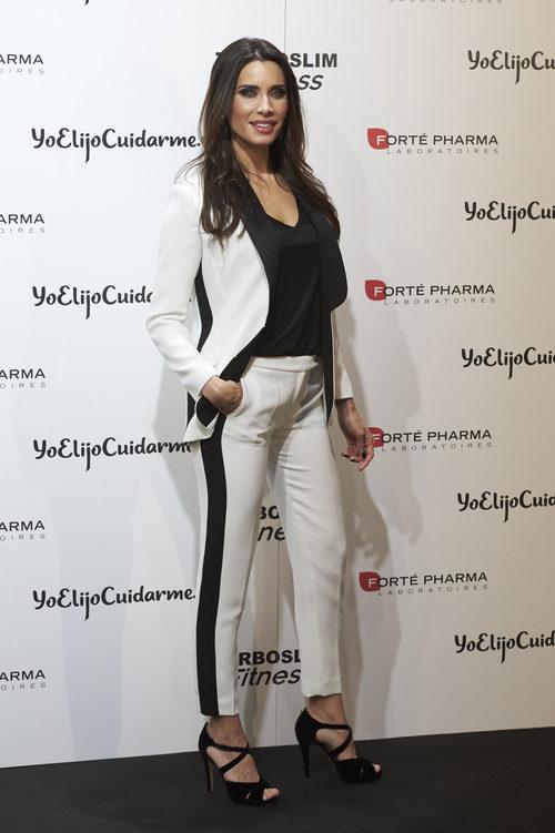 Pilar Rubio con un traje sport en la presentación del programa 'Ninja Warrior'