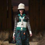 Falda midi floral de Coach otoño/invierno 2017/2018 en la New York Fashion Week