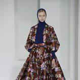 Vestido floral de Delpozo otoño/invierno 2017/2018 en la New York Fashion Week
