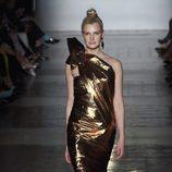 Vestido glitter de Roberto Verino primavera/verano 2017 en la Madrid Fashion Week
