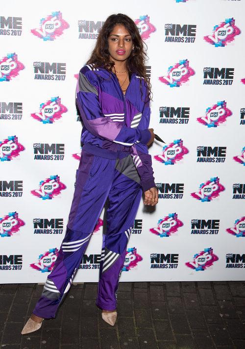 M.I.A con un chándal ochentero en los VO5 NME Awards 2017