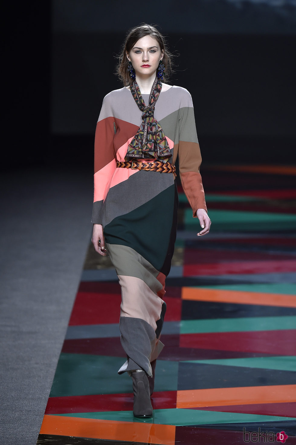 Vestido largo estampado colores