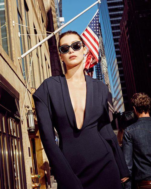 Bella Hadid en la campaña primavera/verano 2017 de DKNY