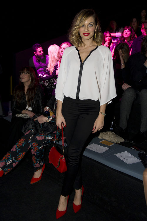 Norma Ruiz con un look sencillo en el front row de Hannibal Laguna en la Madrid Fashion Week