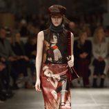 Vestido estampado de Prada otoño/invierno 2017/2018 en la Milán Fashion Week