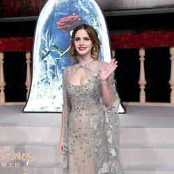 Emma Watson vestida de Elie Saab en el estreno de la película 'La Bella y la Bestia' en Shanghai