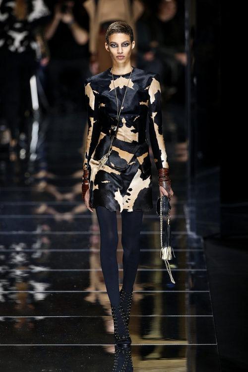 Camisa animal print de Balmain otoño/invierno 2017/2018 en la Paris Fashion Week