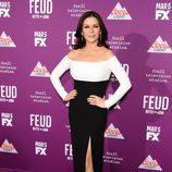 Catherine Zeta-Jones con un vestido bicolor en el estreno de 'Feud'