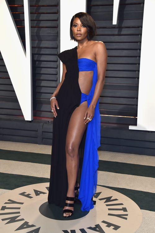 Gabrielle Union vestida de Jean Paul Gaultier en la fiesta de Vanity Fair tras los Oscar 2017