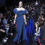 Vestido vaporoso de Elie Saab de la colección otoño/invierno 2017/2018 en París Fashion Week