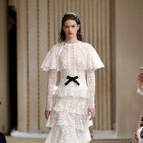 Vestido vintage de Giambattista Valli otoño/invierno 2017/2018 en la Paris Fashion Week