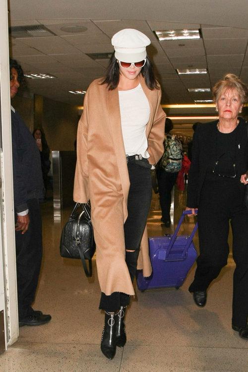 Kendall Jenner con un look boho-chic en Los Ángeles