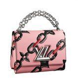 Bolso rosa con cadena de Louis Vuitton primavera/verano 2017