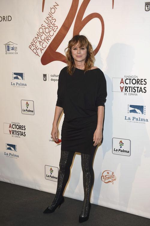 Emma Suárez con un total black en los Premios Unión de Actores 2017